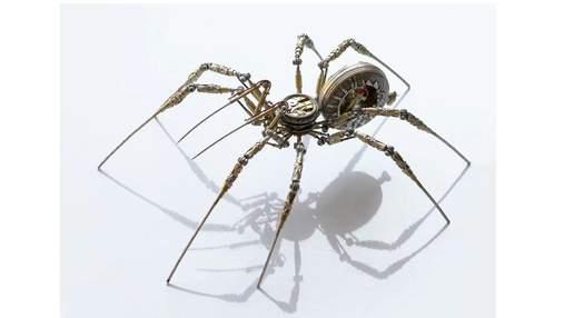 Павуки-кіборги: митець створює чудернацькі механізми зі старих годинників